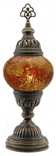 SPECIAL - Turkish Mosaic Bedside or Table Lamp - Medium - Amber