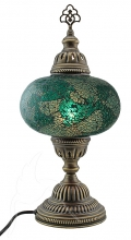 Turkish Mosaic Bedside or Table Lamp - Large - Ocean Green