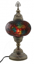 SPECIAL - Turkish Mosaic Bedside or Table Lamp - Large - Rainbow