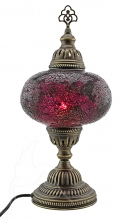 Turkish Mosaic Bedside or Table Lamp - Large - Fuchsia