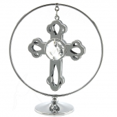 Crystocraft Mini Cross Mobile - Silver
