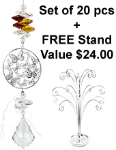 Starry Night - set of 20 incl. FREE STAND