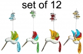 Rainbow Hummingbird - set of 12