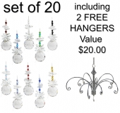 SPECIAL - Sphere - set of 20 incl. 2x FREE HANGERS