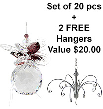 Butterfly Sphere - set of 20 incl. 2x FREE HANGERS