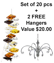 Cascade - set of 20 incl. 2x FREE HANGERS