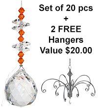 Mini Beaded Sphere - set of 20 incl. 2x FREE HANGERS