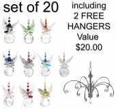 Pearled Butterfly Spheres - set of 20 incl. 2x FREE HANGERS