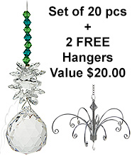 Cluster on Sphere - set of 20 incl. 2x FREE HANGERS