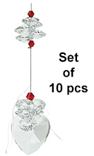 Crystal Heart - set of 10