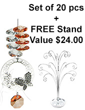 Mini Butterfly Filigree Suncatcher - set of 20 incl. FREE STAND