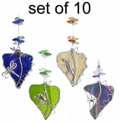 Animals on Leadlight Leaf - set of 10