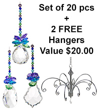 Tropical - set of 20 incl. 2x FREE HANGERS