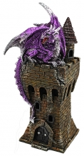 Purple Dragon on Tower