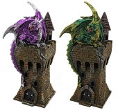 Dragon on Tower - set of 2