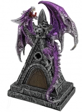 Purple Dragon on Castle Roof