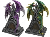 Dragon on Castle Roof - set of 2