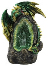 Green Dragon on Thunder Egg
