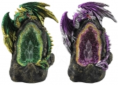 Dragon on Thunder Egg - set of 2