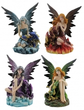 Fairy with Dragon - set of 4</br><b>Online Special Only</b>