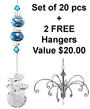 Crystal Delight - set of 20 incl. 2x FREE HANGERS