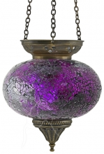 Turkish Mosaic Hanging Tealight - Large - Purple