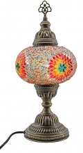 Turkish Mosaic Bedside or Table Lamp - Large - Beaded White RBW