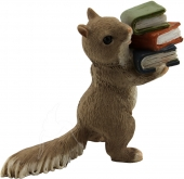 Mini Squirrel with Books