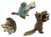 Mini Animals & Books - set of 3