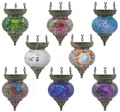 Small Turkish Mosaic Hanging Tealights - set of 8