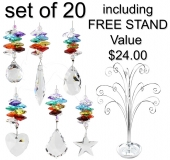 SPECIAL - Chakra Minis - set of 20 incl. FREE STAND