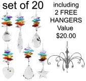 Chakra Minis - set of 20 incl. 2x FREE HANGERS