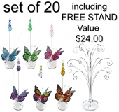 Mini Butterfly Sphere - set of 20 incl. FREE Stand