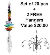 Rainbow Icicle - set of 20 incl. 2x FREE HANGERS