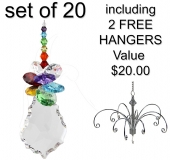 Rainbow Starburst - set of 20 incl. 2x FREE HANGERS