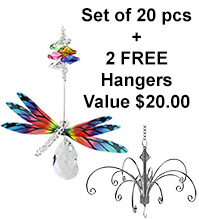 Dragonfly Almond Deluxe - set of 20 incl. 2x FREE HANGERS