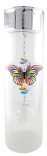 SPECIAL - Candleholder with Butterfly - Large - Silver Lid - Tropical