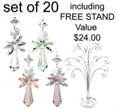 Pastel Angels - set of 20 including FREE STAND (515/15)