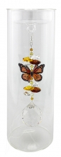 Candleholder with Butterfly - Small - Topaz
