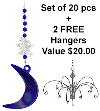 Moon Shadow - set of 20 incl. 2x FREE HANGERS