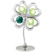 Crystocraft Lucky Four Leaf Clover - Silver