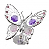 SPECIAL - Crystocraft Tiger Butterfly - Silver