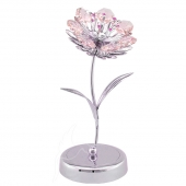 SPECIAL - Crystocraft Sunflower on Deluxe Base - Silver - Pink