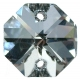 Preciosa Octagons - 14mm 2 holes - SIL - Tray of 77