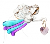 Car Mirror Angel with Crystal Heart - Small - set of 6