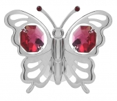 SPECIAL - Crystocraft Mini Butterfly - Suction Cup - Silver-Red