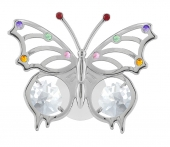 SPECIAL - Crystocraft Angelwing Butterfly - Suction Cup - Silver-Clear/Mix