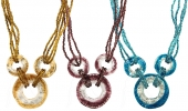 Three Ring Necklace - set of 6