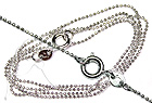 Rhodium Plated Necklace - G