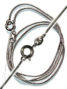 Rhodium Plated Necklace - H